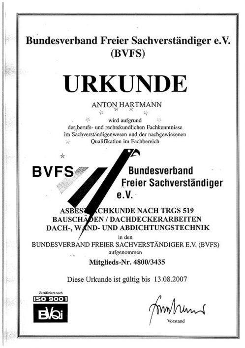BVFS Asbestfachkunde