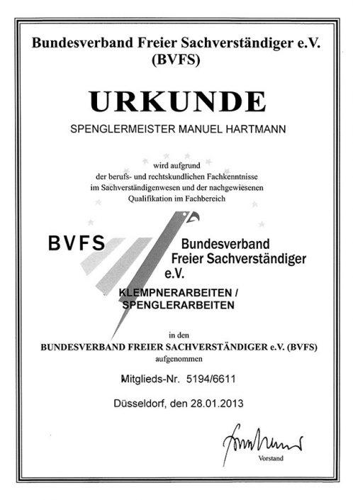 BVFS Klempner und Spenglerarbeiten
