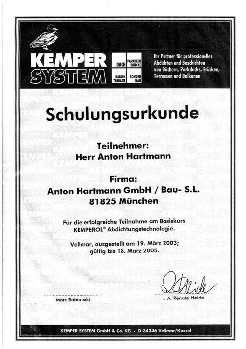 Kemper Anton Hartmann Kemperol Abdichtungstechnologie