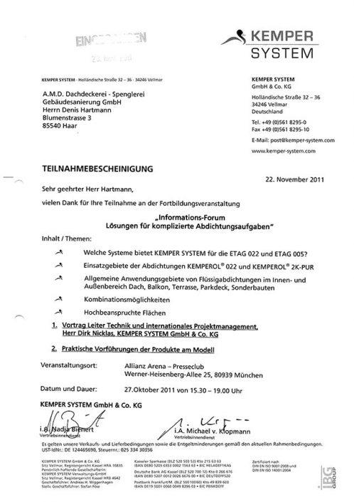 Kemper Komplizierte Abdichtungsaufgaben