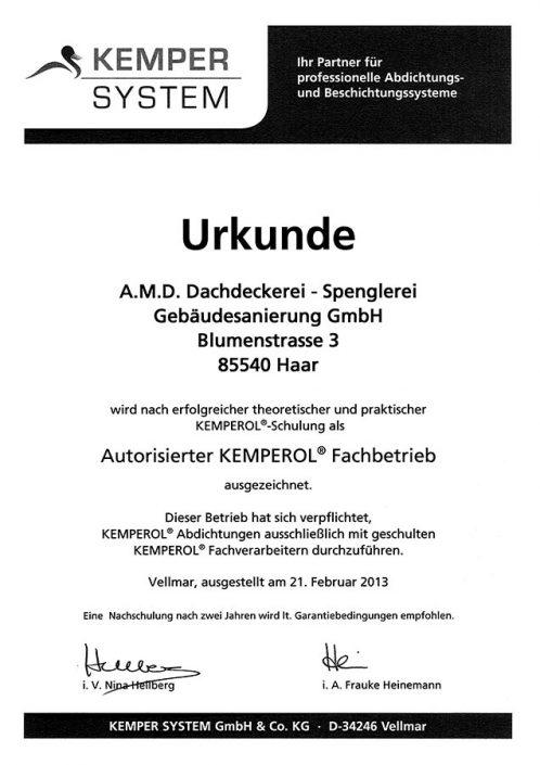 Kemper System Autorisierter Kemperol Fachbetrieb