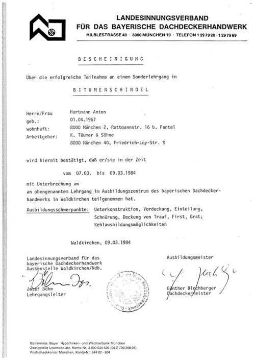 Landesinnungsverband Bitumenschindel