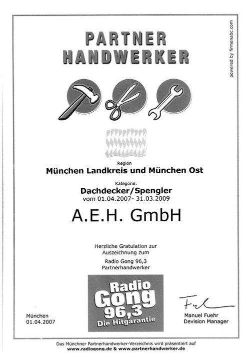 Radio Gong 96,3 Partner Handwerker