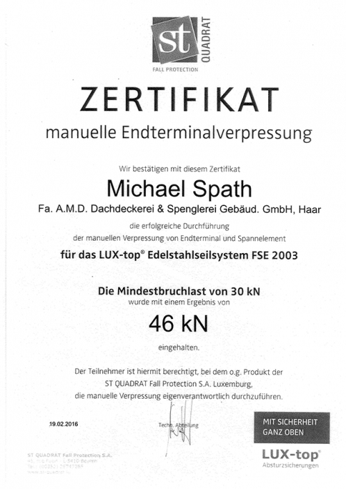 ST QUADRAT Spath Michael Endterminalverpressung