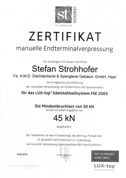 ST QUADRAT Strohhofer Stefan Endterminalverpressung