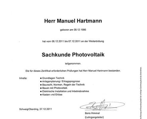 TUV Rheinland Manuel Hartmann