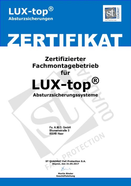 Zertifikat FACHMONTAGE