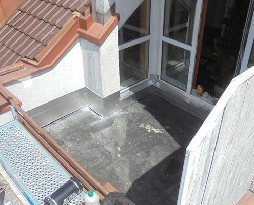 Aufbau einer neuen Dach-Terrasse