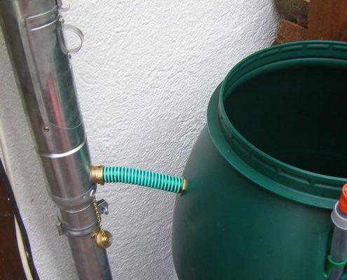 Entwässerung für Blumenwasser