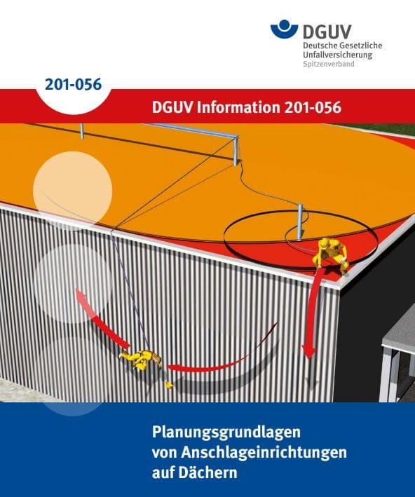 DGUV Informationen 201-056 Planungsgrundlagen von Anschlageinrichtungen auf Dächern