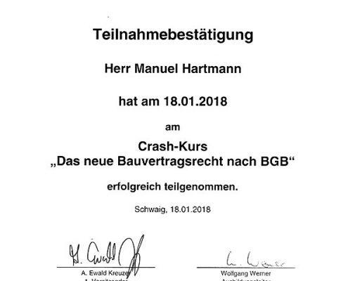 Das neue Bauvertragsrecht nach BGB Manuel Hartmann
