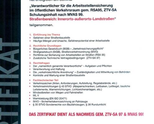Zertifikat RSA Manuel Hartmann