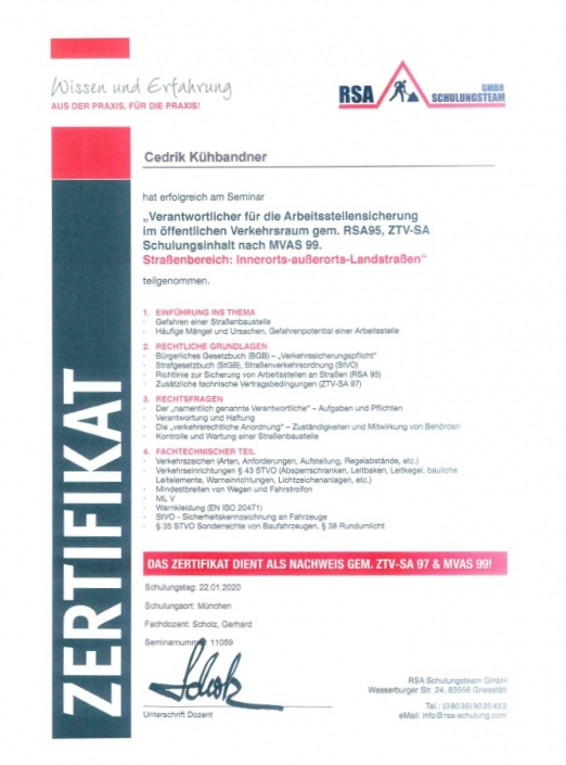 RSA Zertifikat Cedric Kühbandner