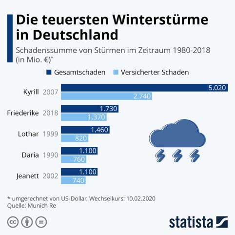 Statista Winterstürme