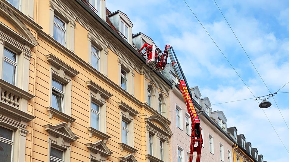 Dachdecker Notdienst im Einsatz
